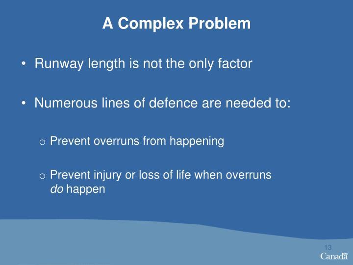 A Complex Problem