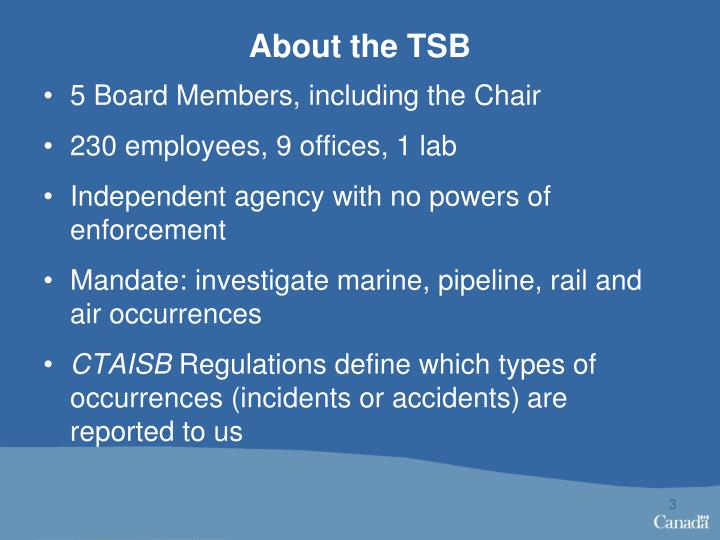 About the TSB