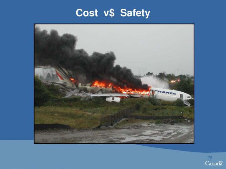 Cost  v$  Safety