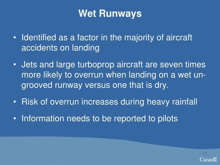 Wet Runways