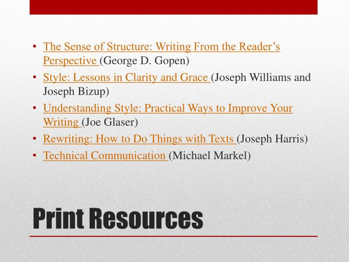 The Sense of Structure: Writing From the Reader's Perspective