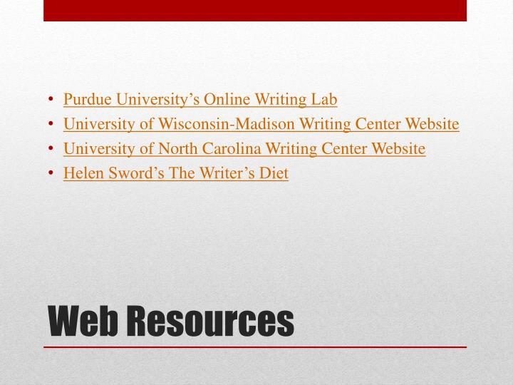 Purdue University's Online Writing Lab