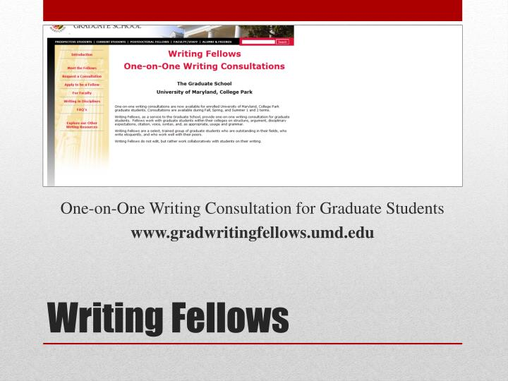 One-on-One Writing Consultation for Graduate Students