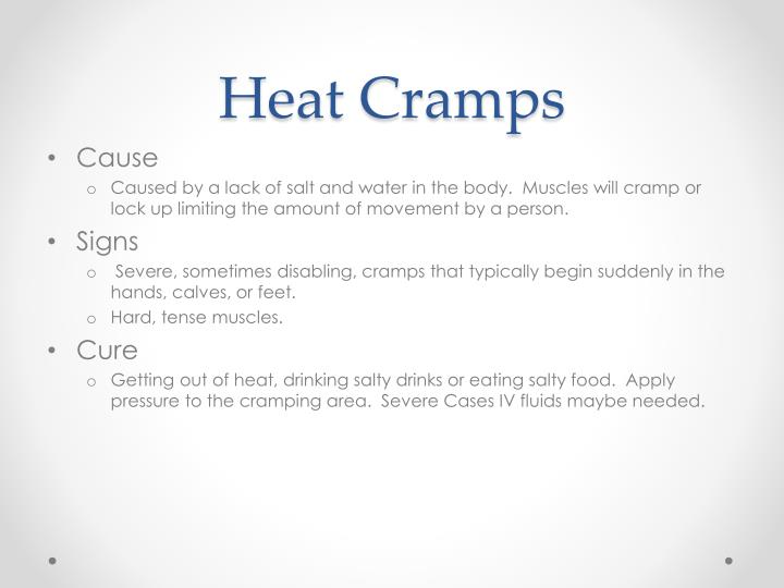 Heat Cramps