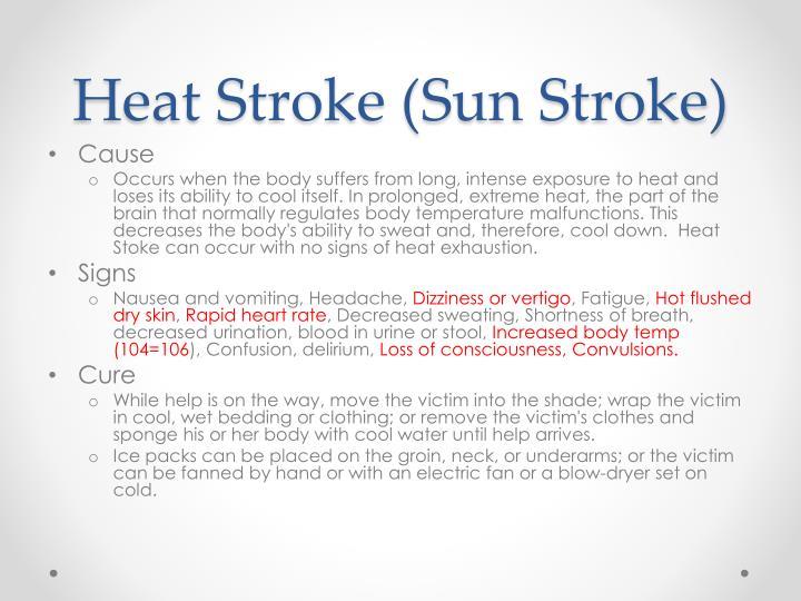 Heat Stroke (Sun Stroke)