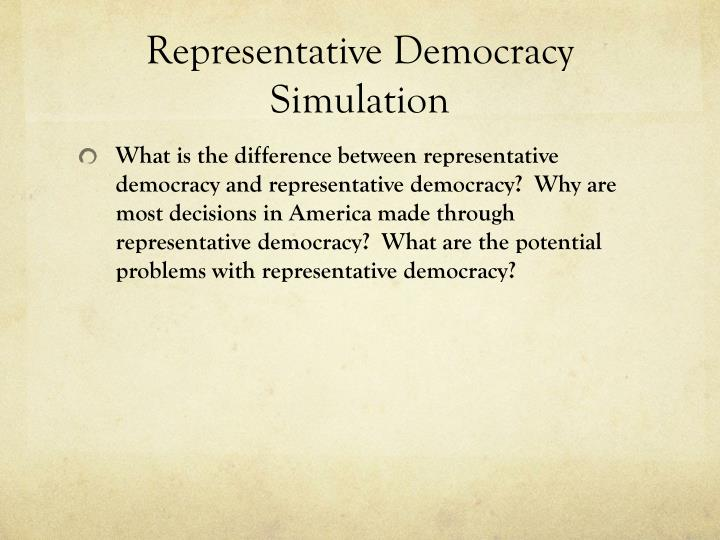Representative Democracy Simulation