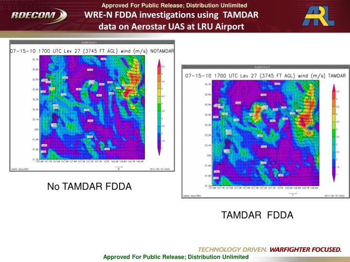 WRE-N FDDA investigations using  TAMDAR data on