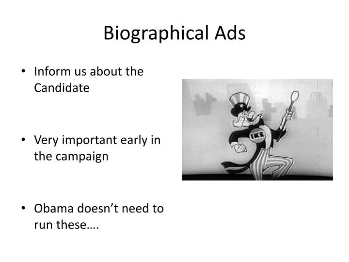 Biographical Ads