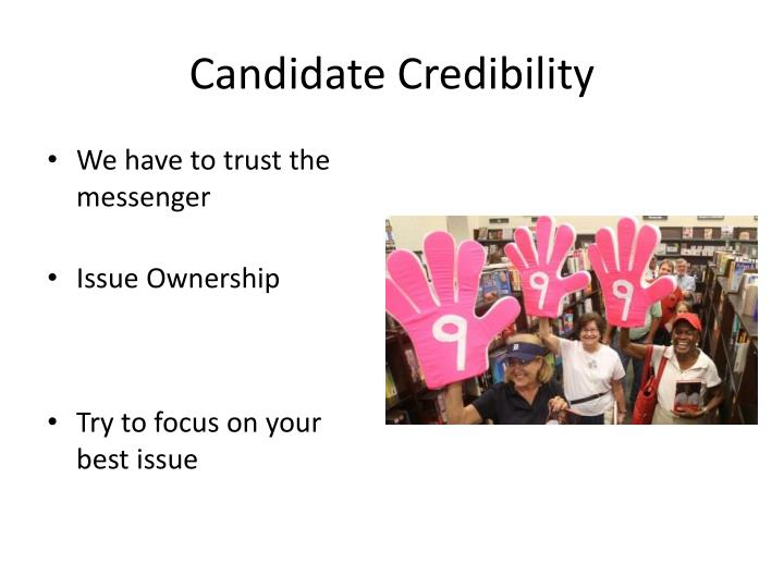 Candidate Credibility