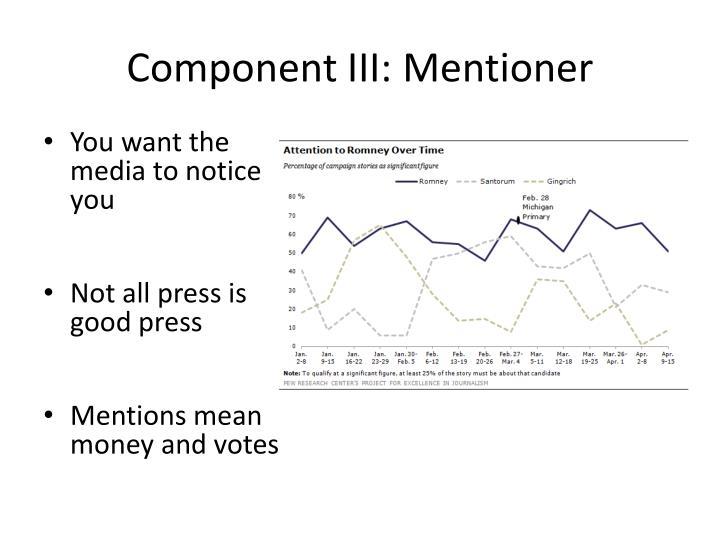 Component III: