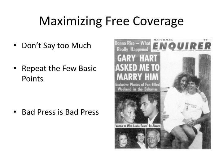 Maximizing Free Coverage