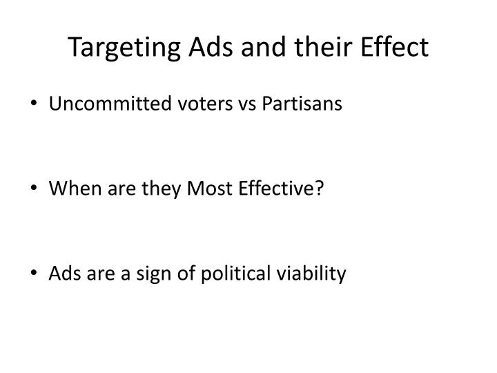 Targeting Ads and their Effect