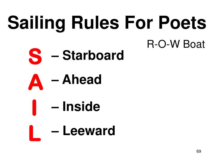 Sailing Rules For Poets