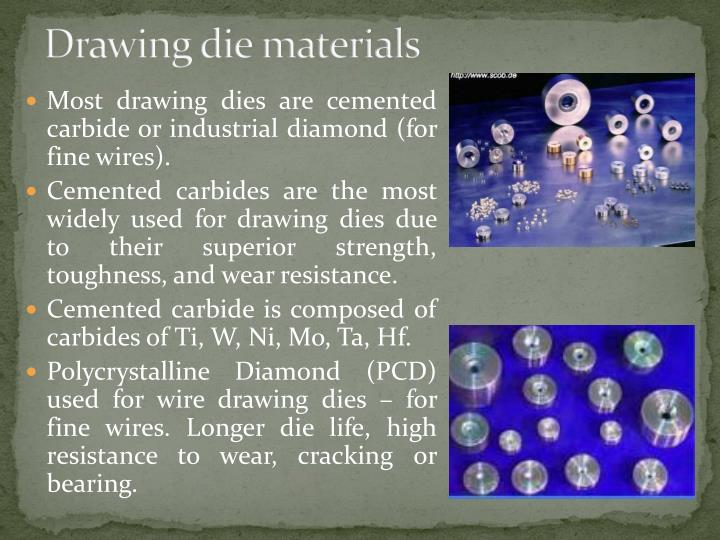 Drawing die materials
