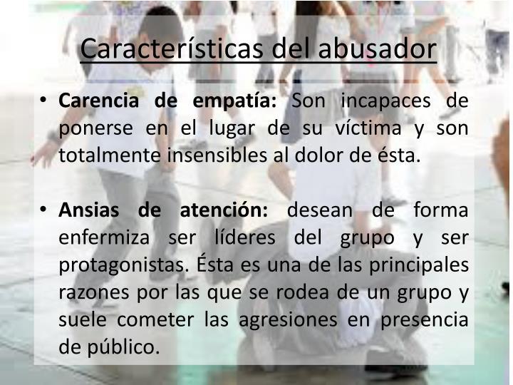 Características del abusador