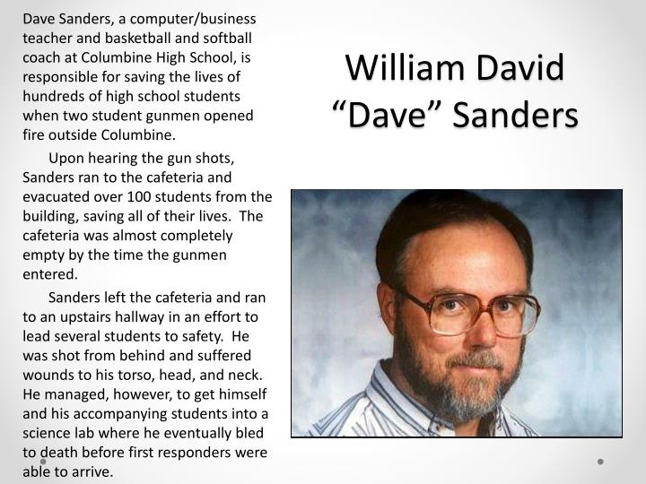 William david dave sanders