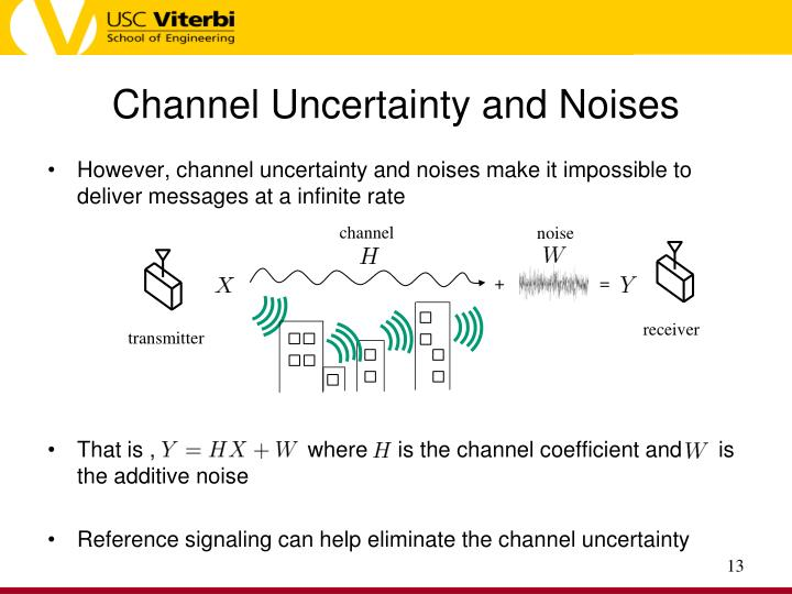 Channel Uncertainty and Noises