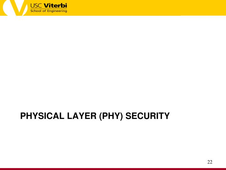 Physical Layer (PHY) Security