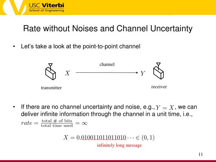 Rate without Noises and Channel Uncertainty