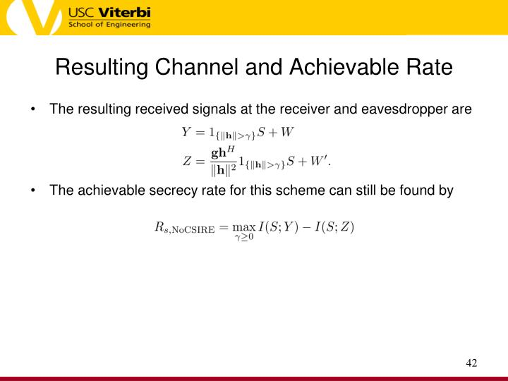 Resulting Channel and Achievable Rate