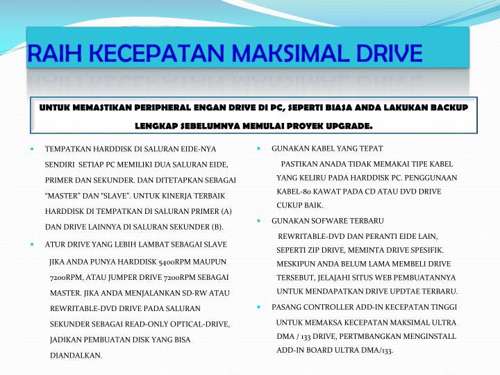 RAIH KECEPATAN MAKSIMAL DRIVE