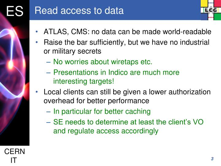 Read access to data