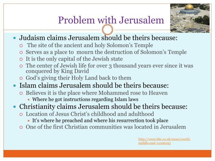 Problem with Jerusalem