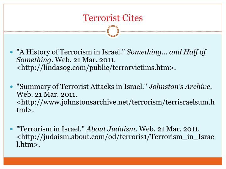 Terrorist Cites