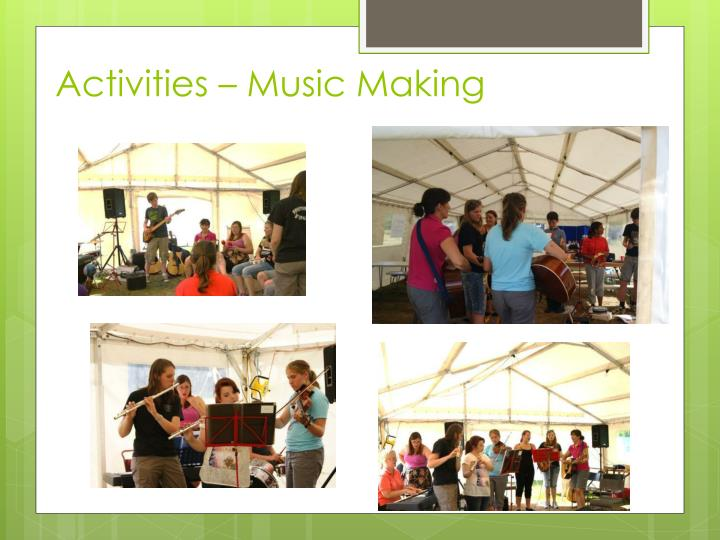 Activities – Music Making