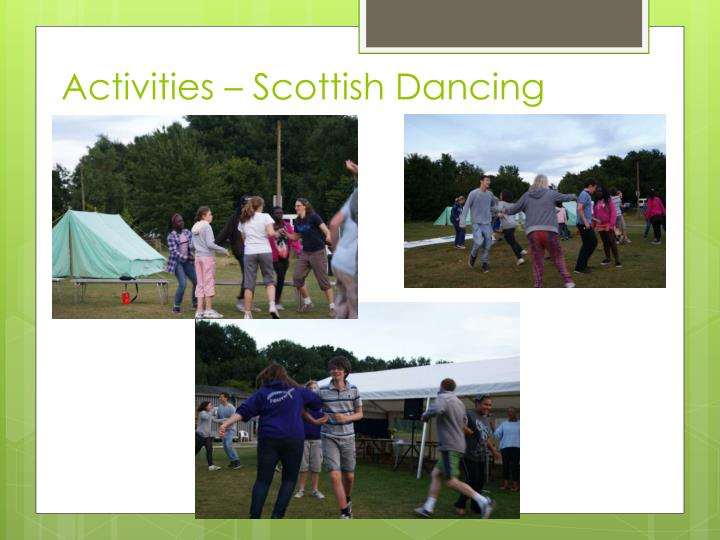 Activities – Scottish Dancing