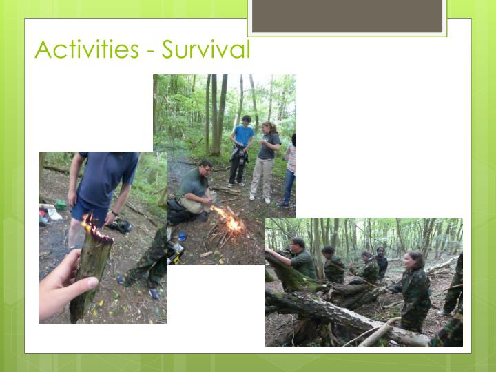 Activities - Survival