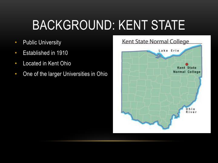 Background kent state