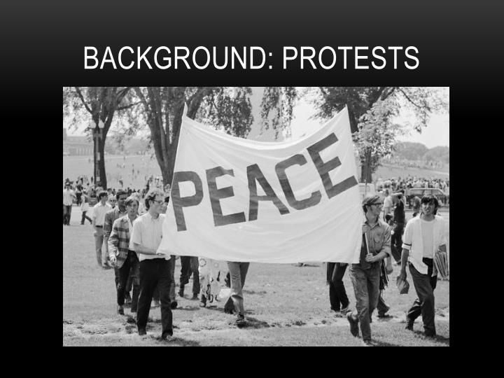 Background protests