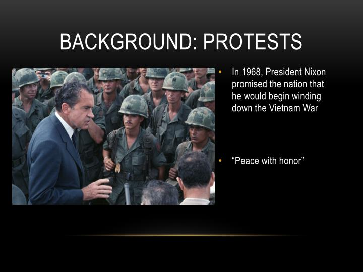 Background: Protests