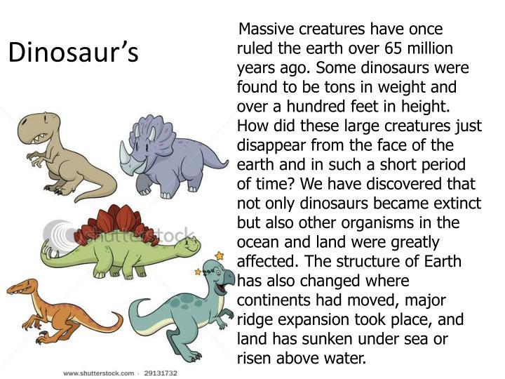 Dinosaur's