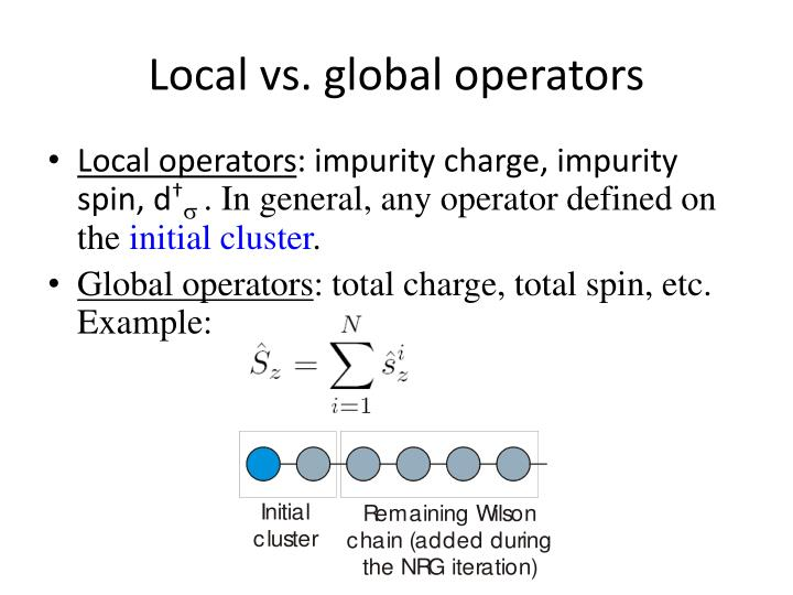 Local vs. global operators