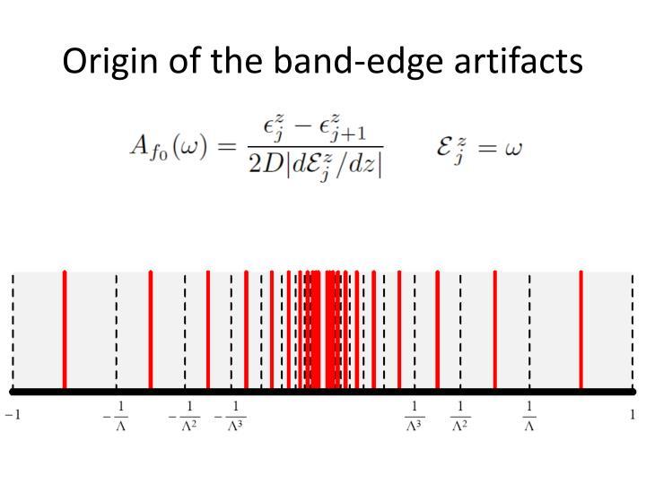 Origin of the band-edge art