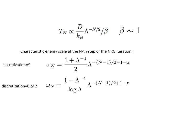 Characteristic energy scale at the N-