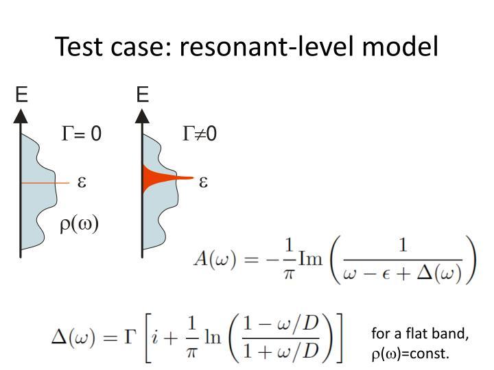 Test case: r