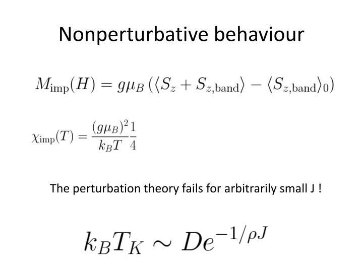 Nonperturbative behaviour