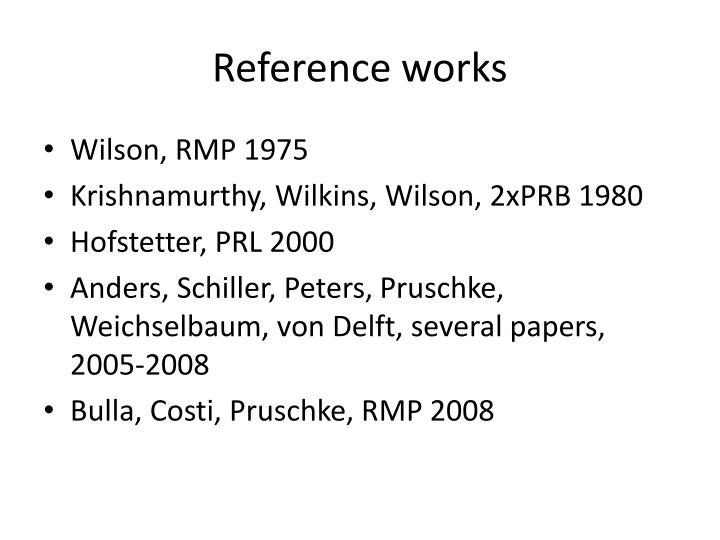 Reference works