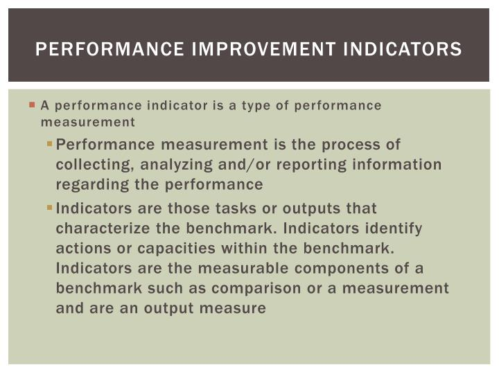 Performance Improvement Indicators