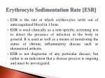erythrocyte sedimentation rate esr