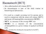 haematocrit hct