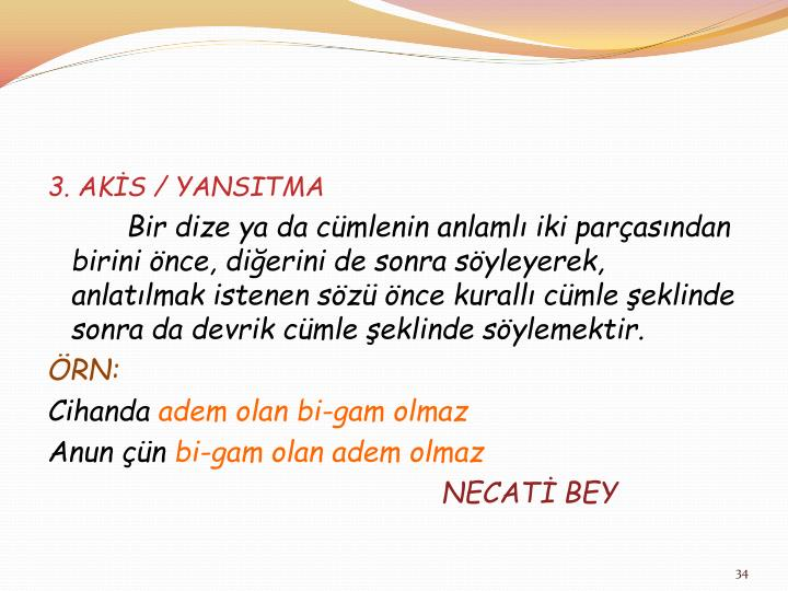3. AKİS / YANSITMA