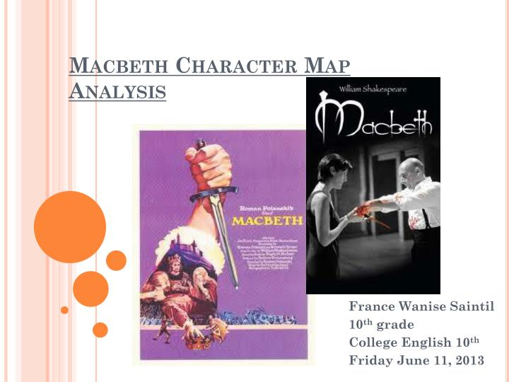 Macbeth Character Analysis Essay