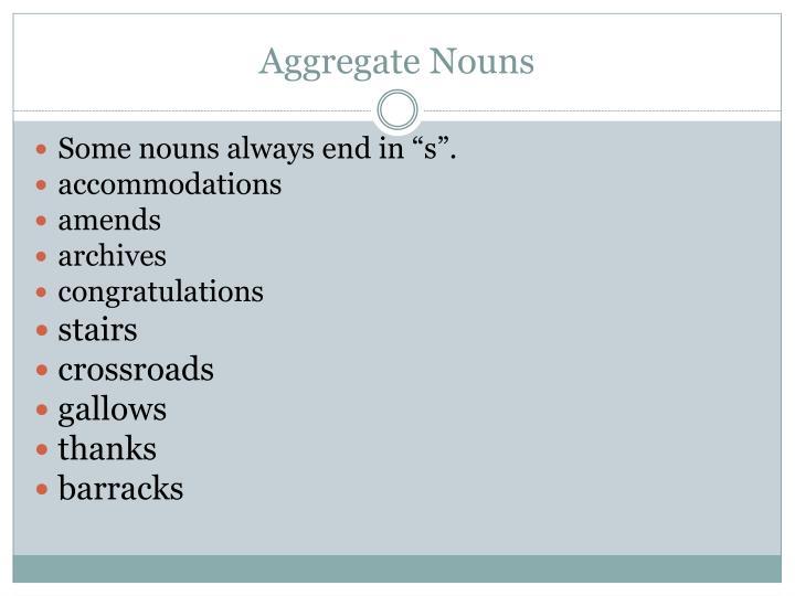 Aggregate Nouns
