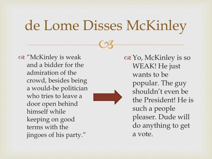 de Lome Disses McKinley