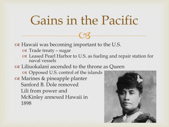 Gains in the Pacific