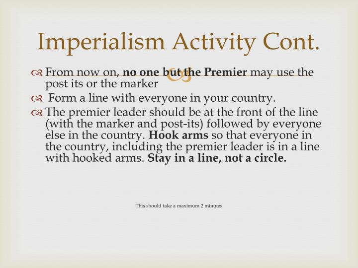 Imperialism Activity Cont.